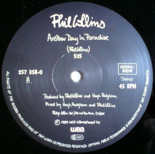 "Текст песни ""Another Day In Paradise"", исполнитель Phil Collins"