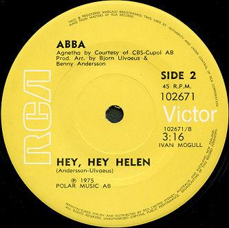 "Текст песни ""Hey hey Helen"", исполнитель ABBA"