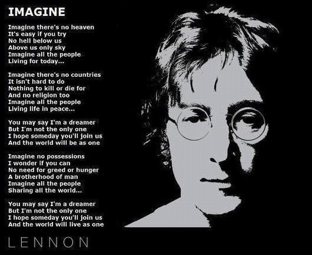 """Текст песни """"Imagine"""", исполнитель John Lennon"""