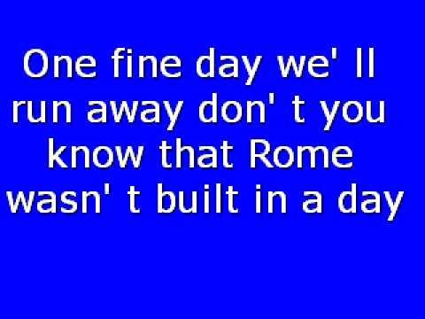 """Текст песни """"Rome Wasn't Built In A Day"""", исполнитель Morcheeba"""
