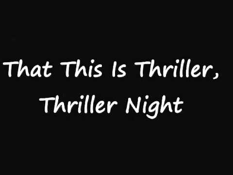 """Текст песни """"Thriller"""", исполнитель Michael Jackson"""