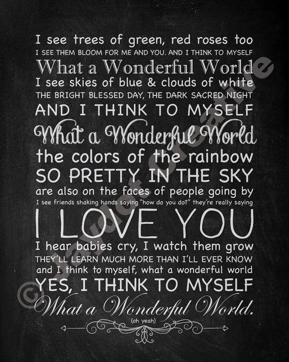 """Текст песни """"What A Wonderful World"""", исполнитель Louis Armstrong"""
