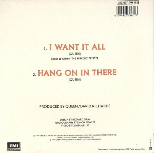 """Hang On In There"", исполнитель Queen"